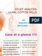 IMPORTANCE OF T&D IN ORG - GOPAL COTTON MILLS CASE STUDY