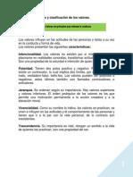 1.5. Caracteristicas y Clasificacion de Los Valores