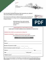 Formulaire Carte Perdue CSSGCC