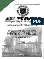 28 Nov 14 Newsclippings