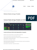 Agua Potable Civilcad