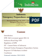 Indonesia - Nuclear and Radiological Emergency and Preparedness and Response Activities