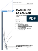 Manual de La Calidad Empresa Mavi Tours