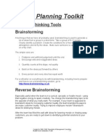 Brainstorming Breakthrough Thinking