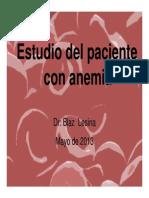 Estudio Del Paciente Con Anemia