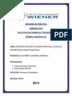 Informe de Practic 10 IDENTIFICACIÓN DE LOS AMINOÁCIDOS DE LA ALFALFA POR MÉTODOS CROMATOGRAFICOS
