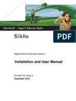 Siklu EH-1200 Install & User Manual - EH-InSTL-03_Issue3 (Sep 2013)