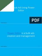 Facebook Ad Using Power Editor