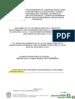 Bases de Licitacion Federales 2011