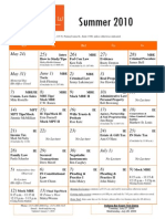 Lecture Schedule Summer 2010