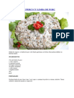 Salata de Ciuperci Cu Limba de Porc