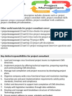 Project Consultant Job Description