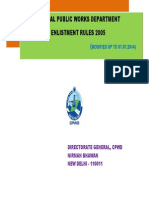 CPWD Enlistment Rules 2014-07