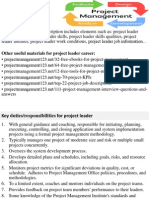 Project Leader Job Description