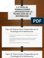 5.3 Tipos de Transacciones Propiciadas Por La Tecnología de La Información.