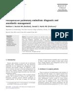 Perioperative Pulmonary Embolism