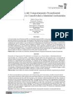 Comportamiento proambiental y conectividad e identidad ambientales