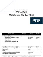 PAP-ARUPS Minutes of the Meeting