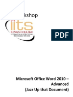 Word 2010 Advanced