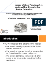 Events in the Crimea in the Polish national newspapers and periodicals in February and April 2014. Contexts, metaphors and meanings