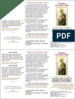 A5 - Novena a San Judas Tadeo