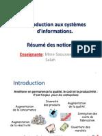 Resumé Cours is d'Information