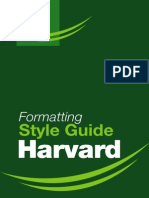 Harvard Formatting Style Guide