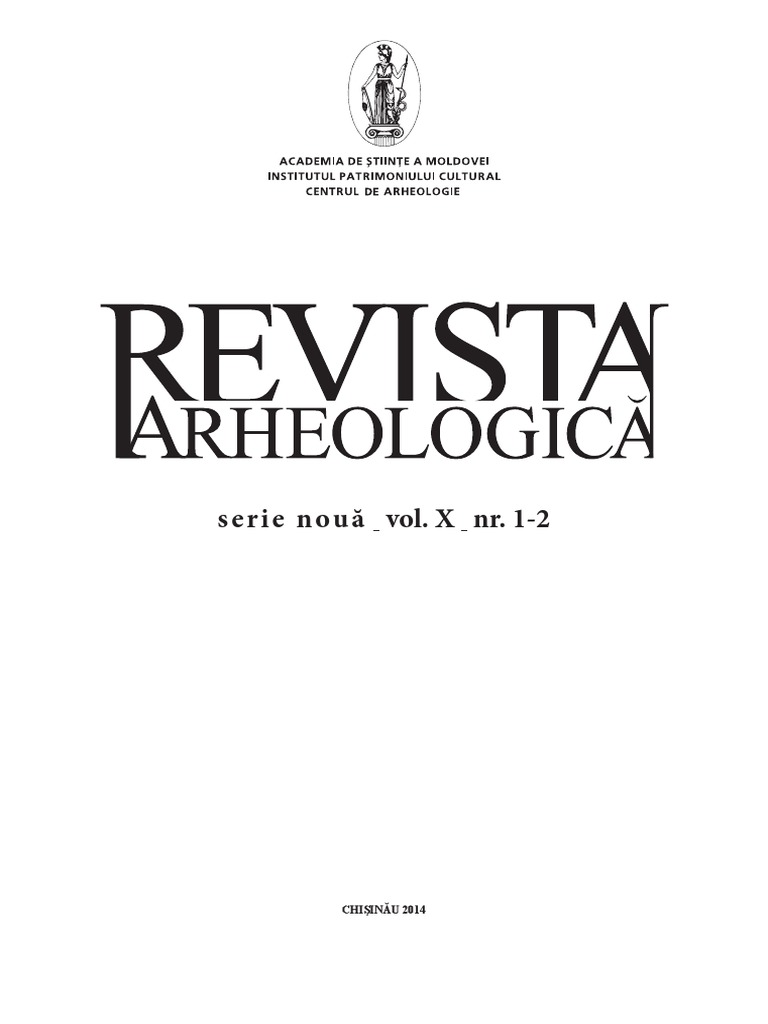 f4efab71bad8 Revista Arheologica, vol. X, nr. 1-2, Chişinău 2014