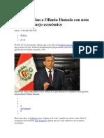 Peruanos Jalan a Ollanta Humala Con Nota de 09 en Manejo Económico FRM