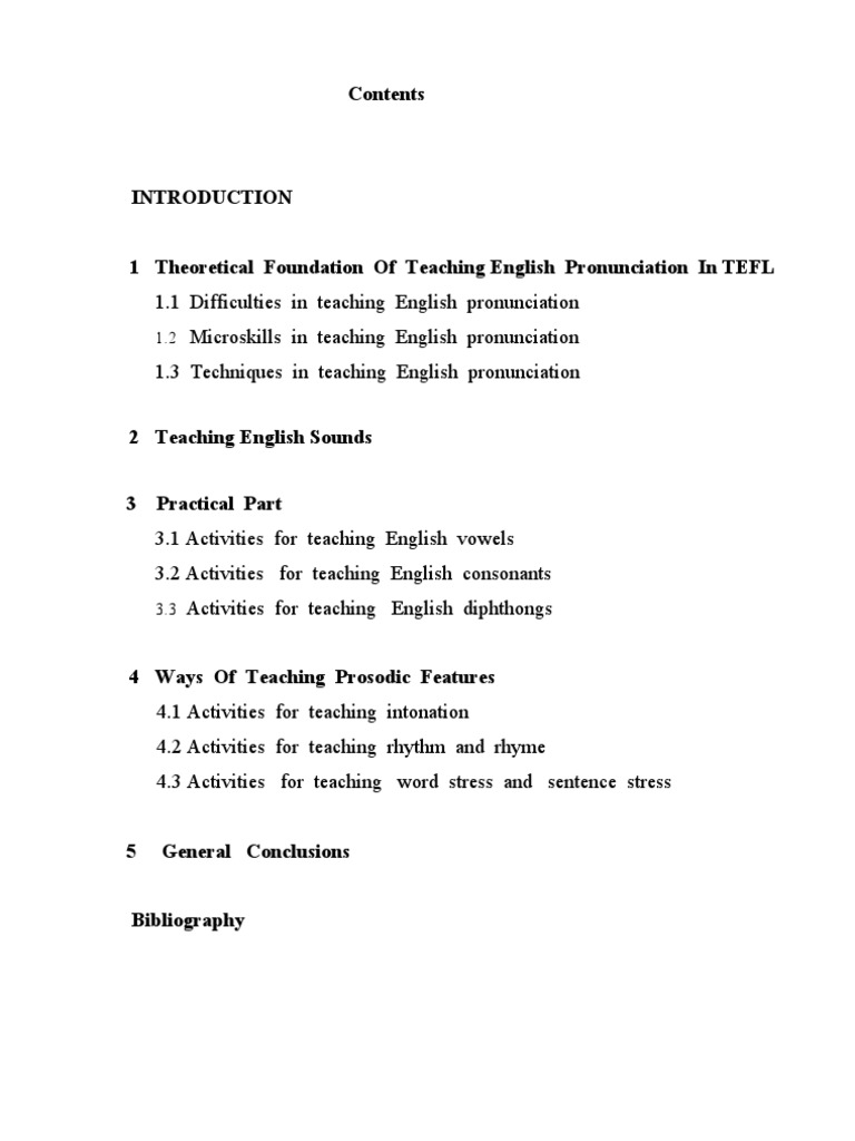 Teaching pronunciation course paper english language stress linguistics