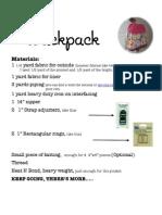 Backpack Tutorial 1