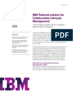IBM Rational Solution for Collaborative Lifecycle Management