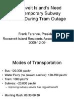 RIRA Roosevelt Island MTA Proposal
