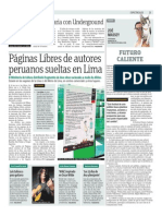 Páginas Libres de Autores Peruanos Sueltas en Lima