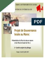 Projet de Gouvernance Locale