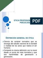 Etica Profesional Del Psicologo Mexicano