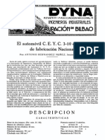 1926-01-003 El Automovil c.e.y.c. 3-10 Caballos de Fabricacion Nacional