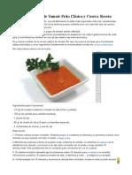 Cómo Hacer Salsa de Tomate Frito Clásica