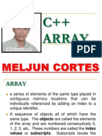 MELJUN CORTES C++ Array