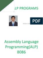 8086 ALP Programs