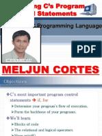 MELJUN CORTES C++ Chap2 C Program Controls Structure
