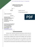 Chadderdon Sentencing Memorandum