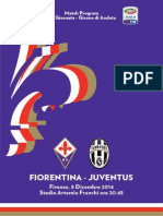Match Program Fiorentina-Juventus
