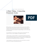Conectando escalas pentatônicas