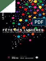 Programme de la Fête des lumières de Lyon (2014)