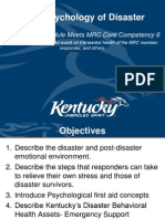 MRC Psychology of Disaster