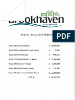 Brookhaven GA Proposed FY 2015 Budget