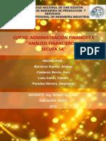 ESTADOS FINANCIEROS SECUFA 2011 -2013