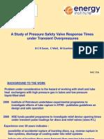 1230 - Ewan - Study of Pressure Safety Valve Response Times Under Transient Overpressures