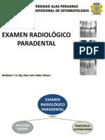 Examen Radiologico Paradental Medicina II